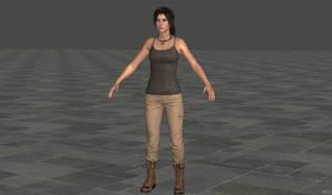 XNA_Lara_Croft_clean_ROTTR(re up) by IsmaelUchihaSan
