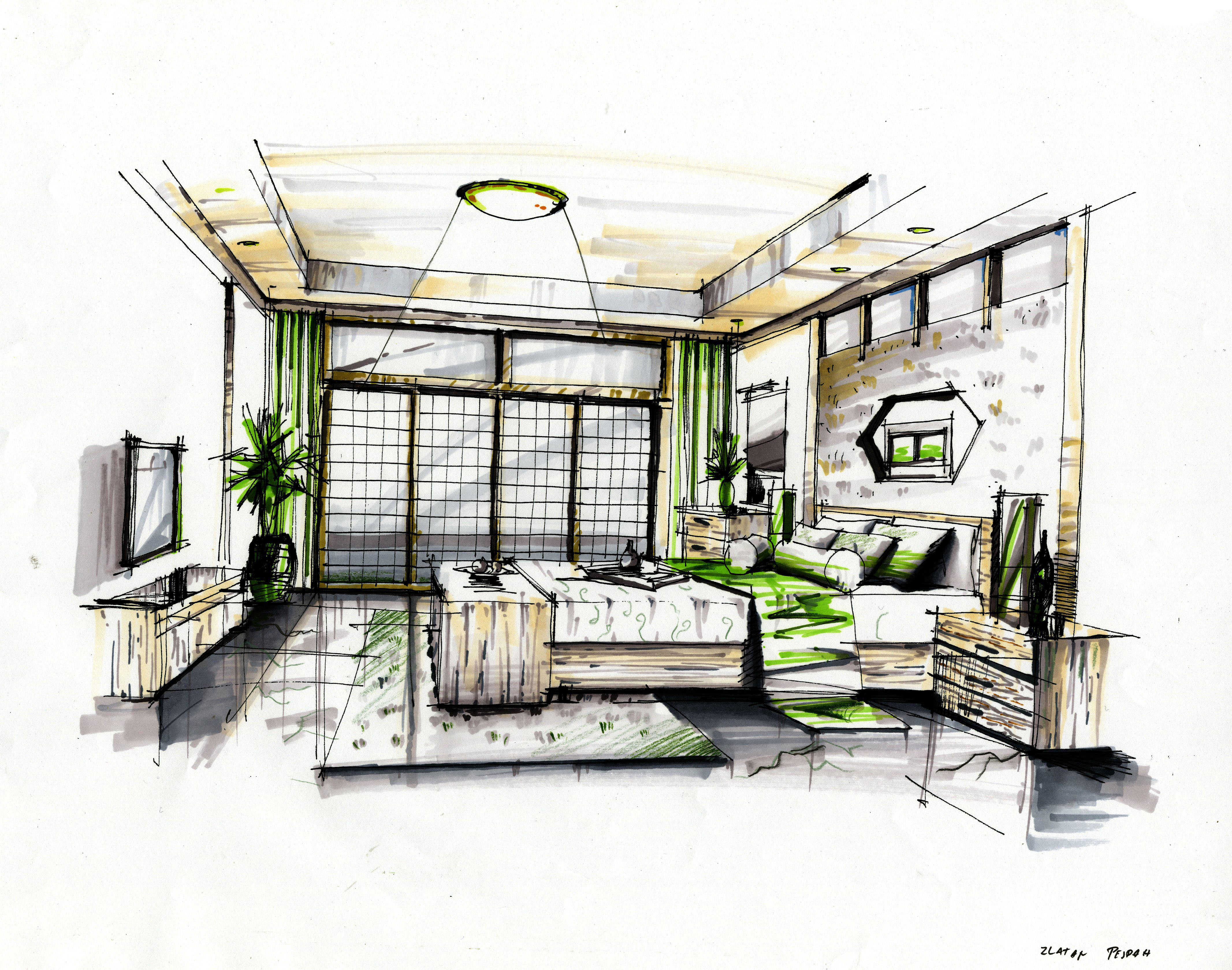interior marker rendering 3 by zlaja on deviantart. Black Bedroom Furniture Sets. Home Design Ideas