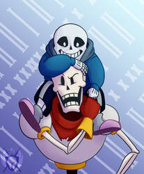 The Skeleton Brothers by KnightA3