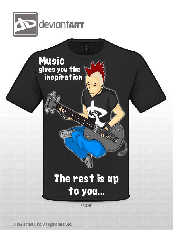 Music's T-shirt by zeek-id