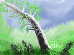 Tree birch speed paint SketchThis