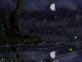 Nattlig filosofi by SvartabergetArt