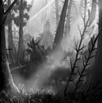 Skogens stilla ljus speed paint