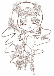 SD Poison Ivy ~ Lineart by Chama