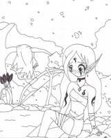 Elf Bathing by DeathsVampire