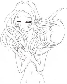 Flowing Hair Girl