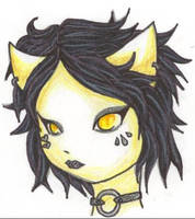 KiTtY gIrL CoOl HaIr CoLoUrEd by DeathsVampire