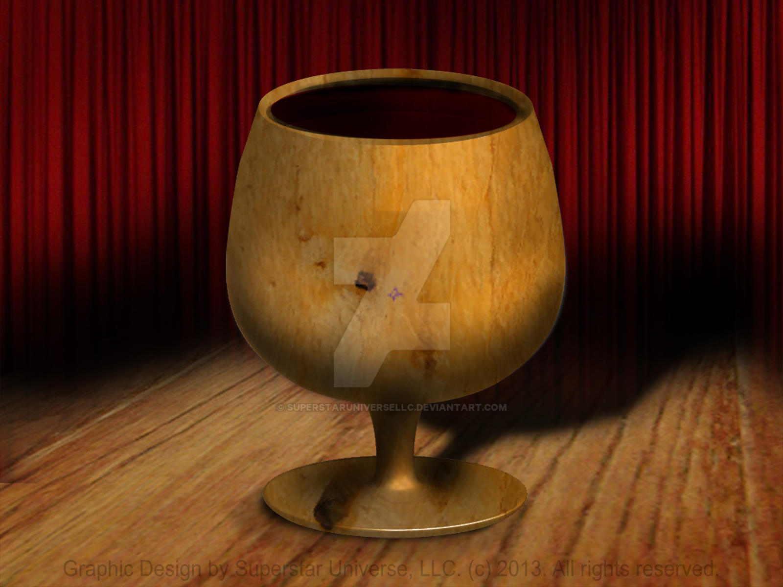 3D Wooden Goblet by SuperstarUniverseLLC