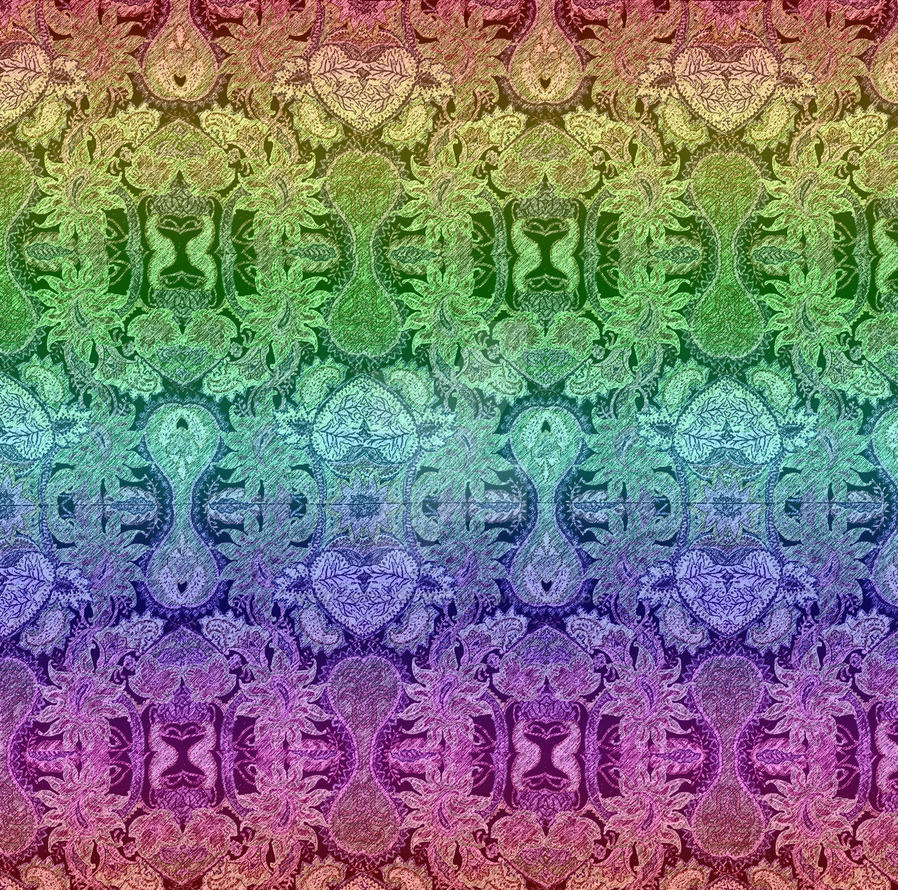 Sample Wallpaper Hearts and Rainbows by SuperstarUniverseLLC