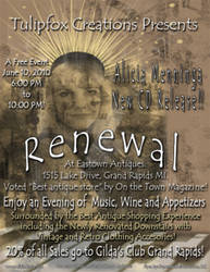 Alicia Menninga's Music 3rd CD Release Flyer