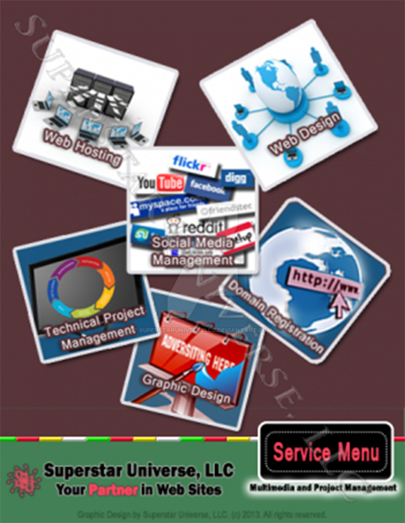 Project Management Service Menu by SuperstarUniverseLLC