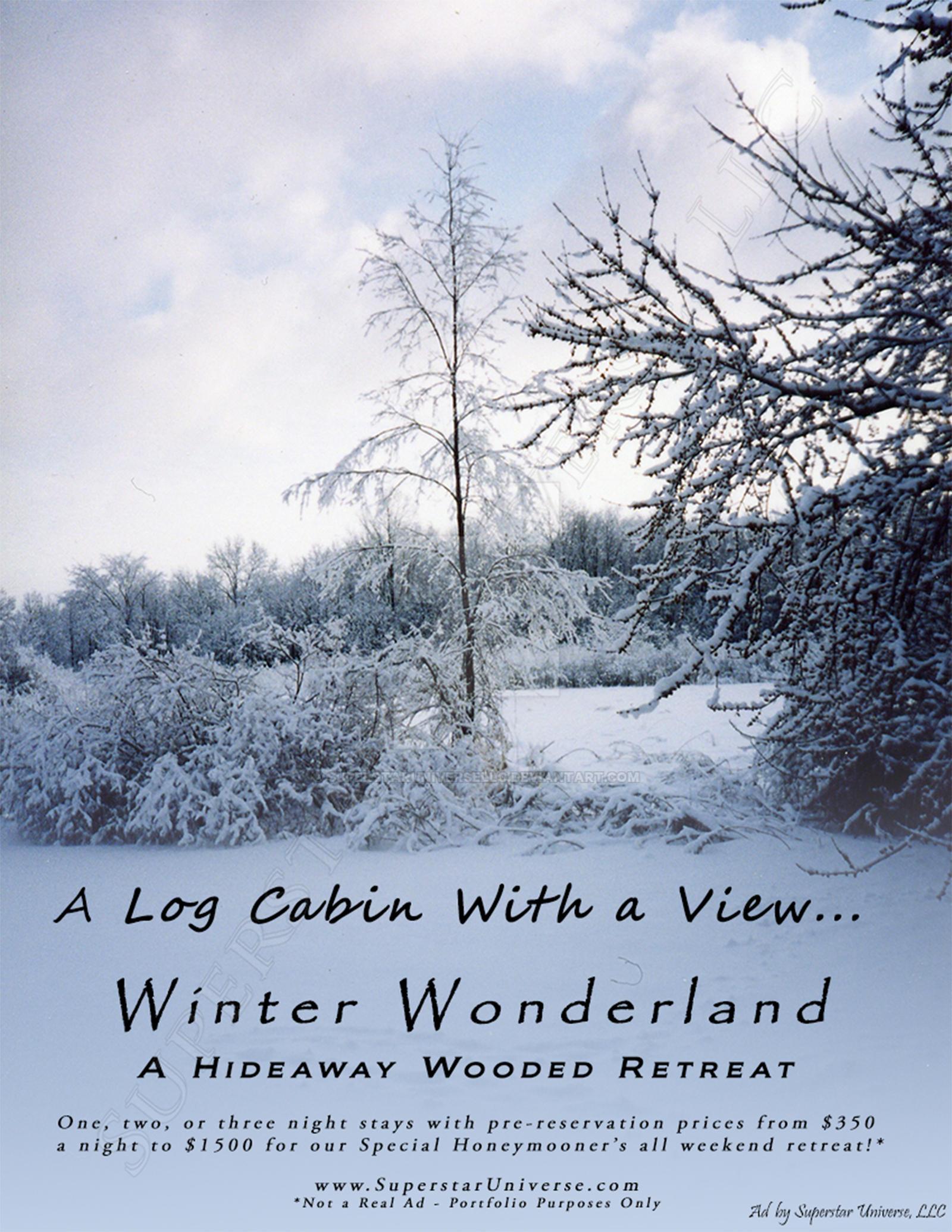 Winter Wonderland Vacation Advertisement by SuperstarUniverseLLC