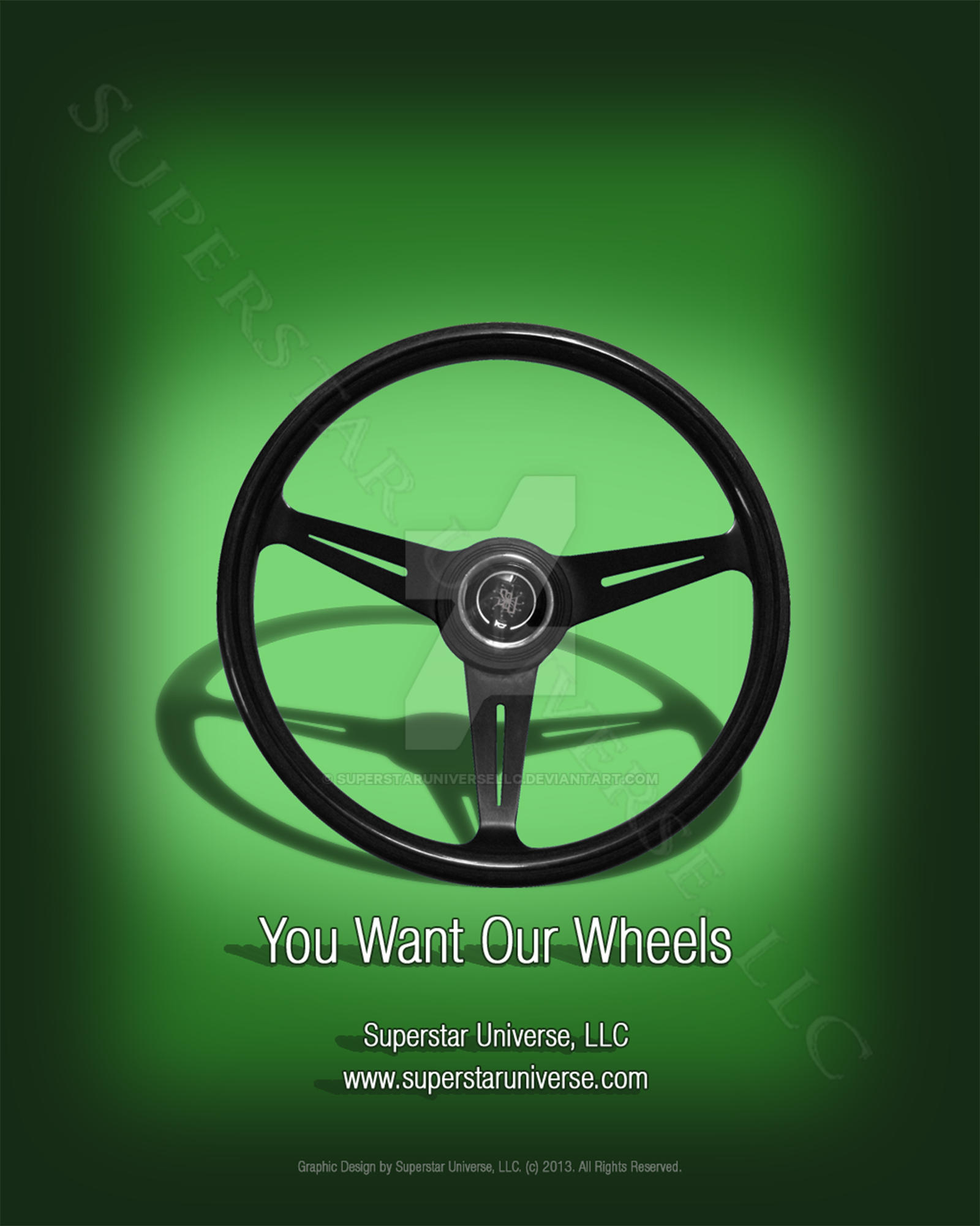 You Want Our Wheels Auto Advertisement by SuperstarUniverseLLC