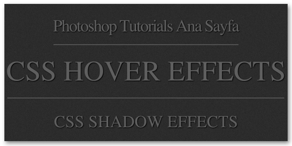 CSS Text Shadow, Hover Effects by haziran87