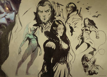 Vampire Sketching by Joel-Lagerwall