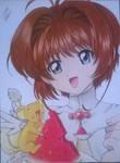 Sakura KInomoto and Kero from Sakura Card Captor