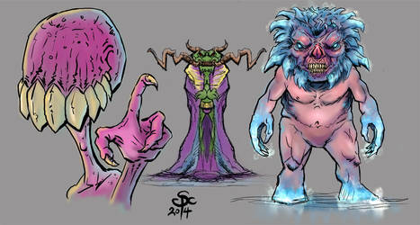 Sketchbook Pro Warm ups  Color by SCPArt