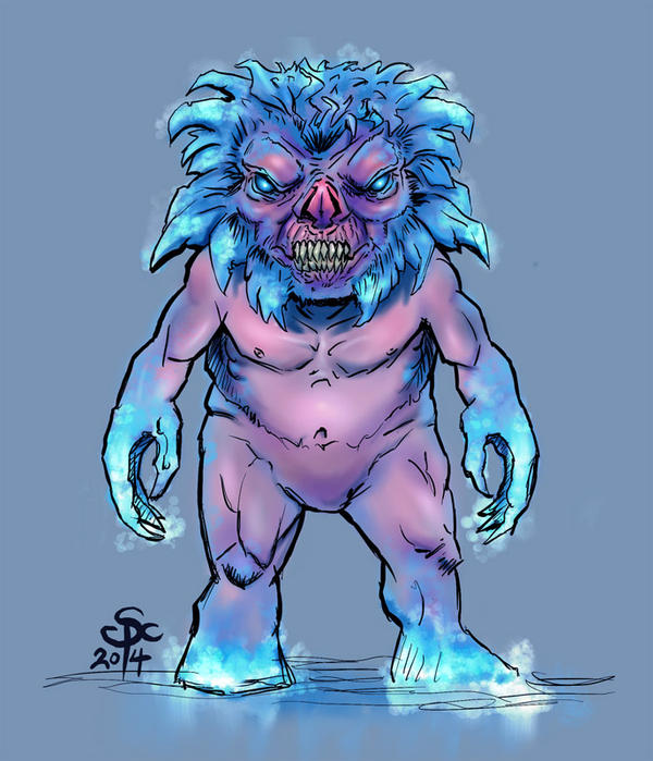 Frost Dwarf Demon by SCPArt