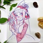 Inktober Day 1 - Cute Witch