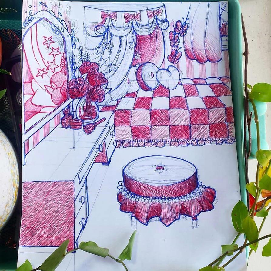 Inktober Day 3 - Charlotte's Room by Mystinaa