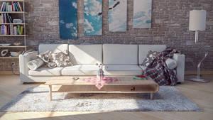 Living room - (6/C4D)