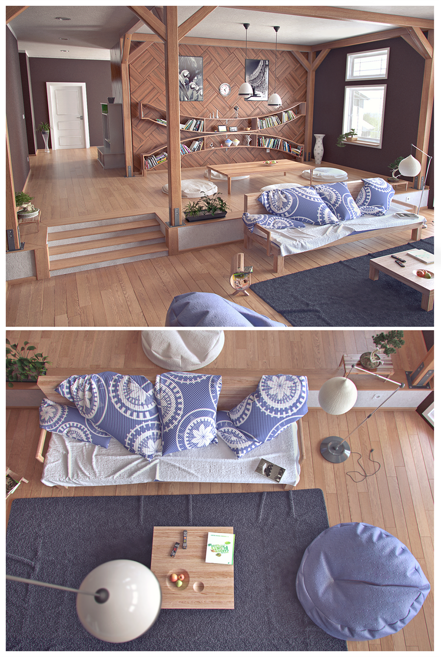 Interior_living room by Klaudio2U