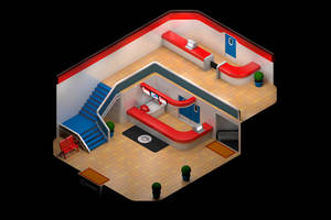 Pokemon Center Recreated in Isometric 3D by isohero