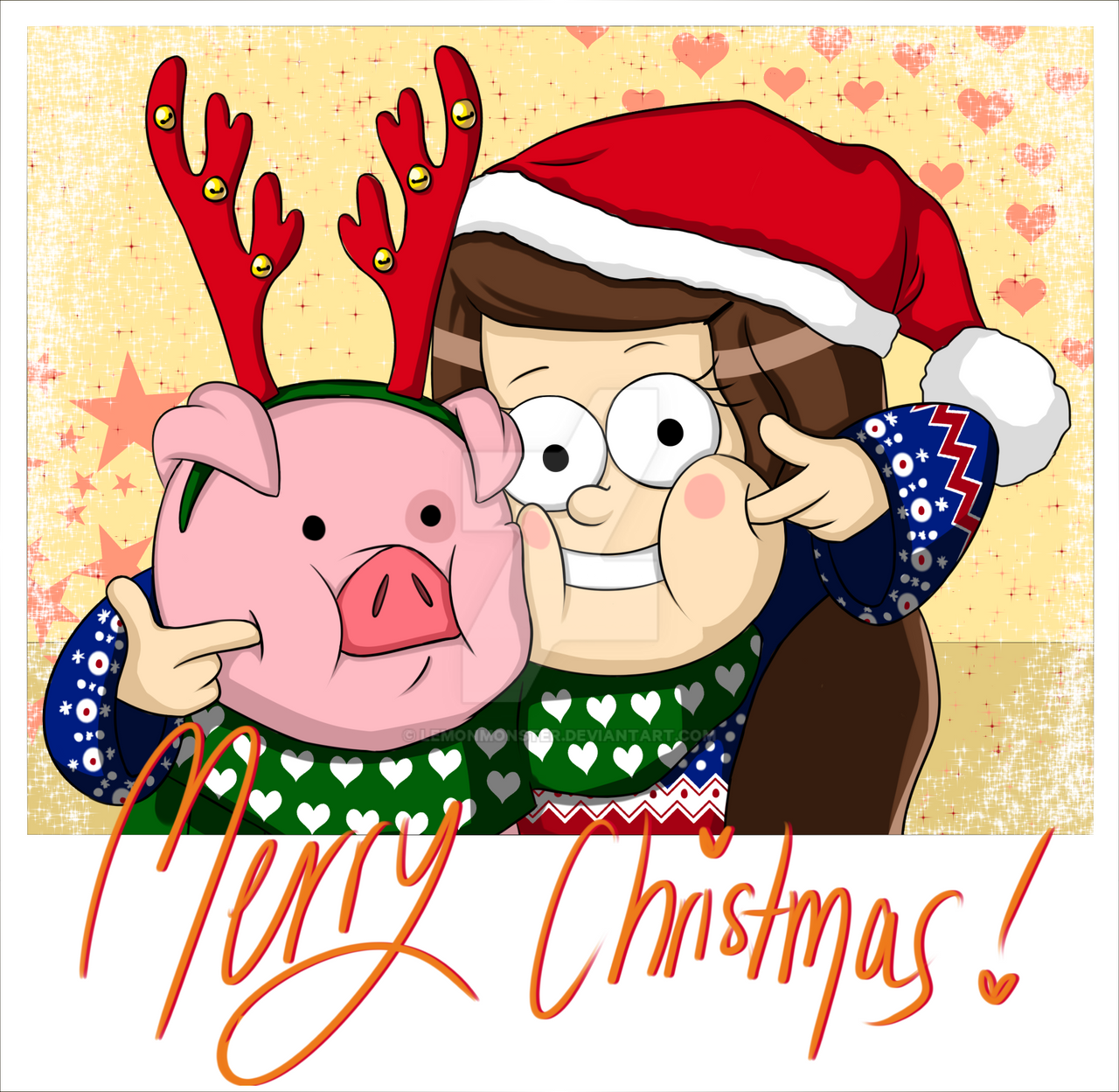 Merry Christmas - Killi and Waddles by Lemonmonster