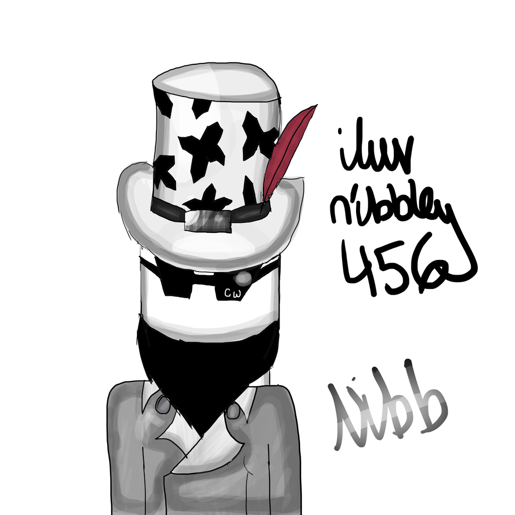 how to draw a charcter from roblox