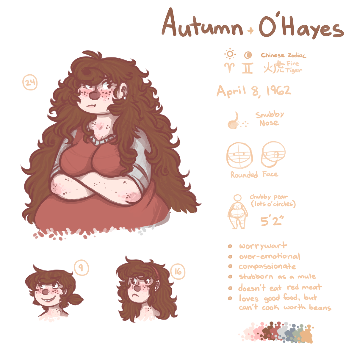 OC Doodle Reference - Autumn by Riftmaw