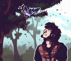 [P] Isaak and a Bird by Riftmaw