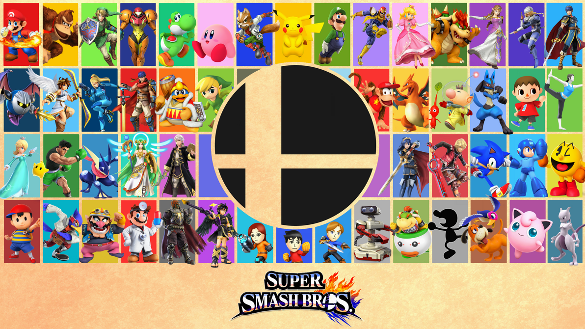Super Smash Bros 4 Poster Wallpaper By EpicAbcdude