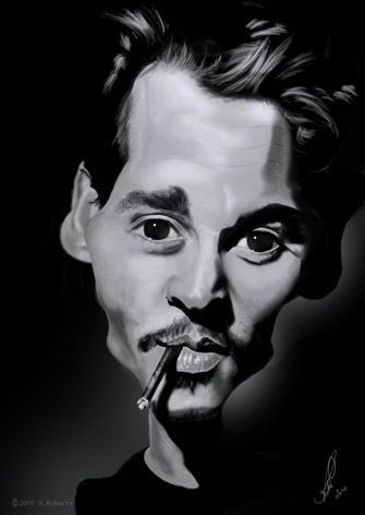 Johnny Depp Caricature by Steveroberts