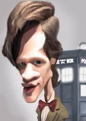 Matt Smith Dr Who Caricature by Steveroberts