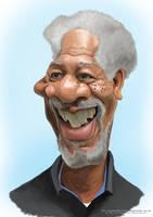 Morgan freeman Caricature by Steveroberts