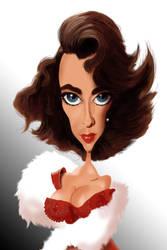 Elizabeth Taylor Caricature