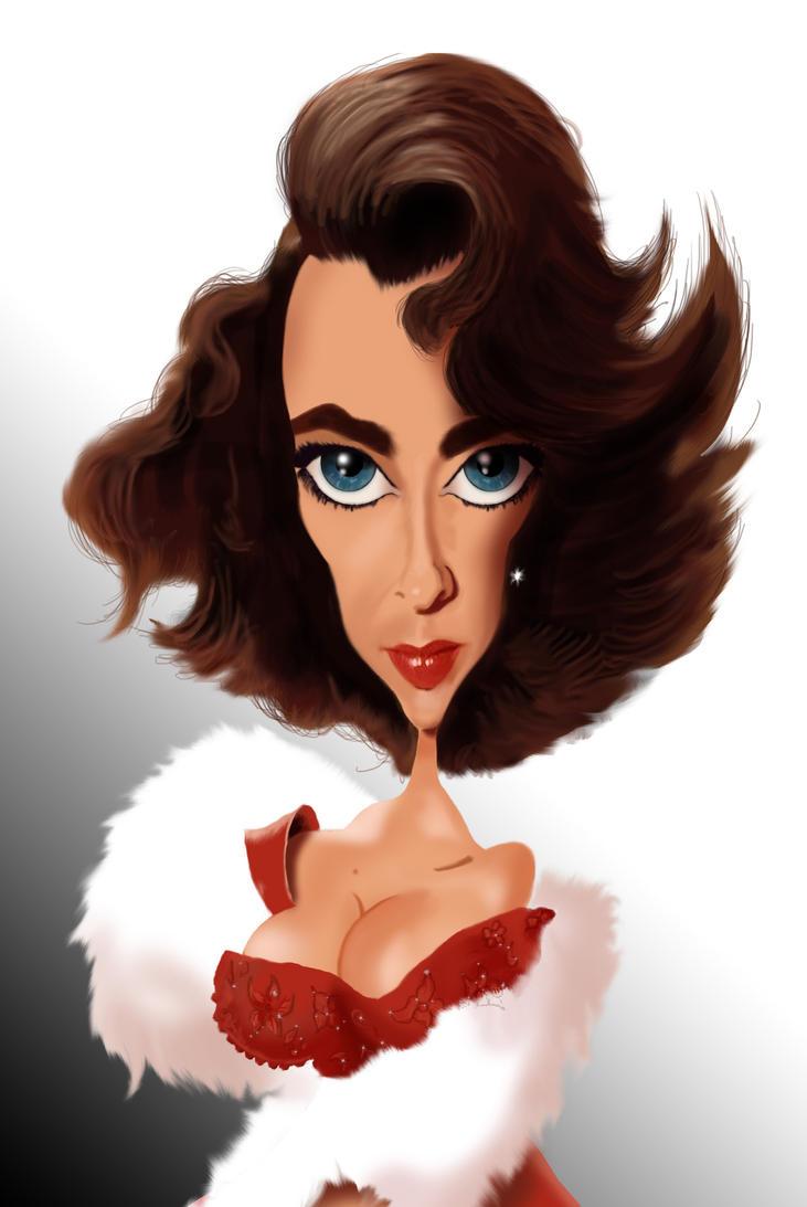 Pogodite tajanstvenu ličnost - Page 5 Elizabeth_taylor_caricature_by_steveroberts-d6nxqzl