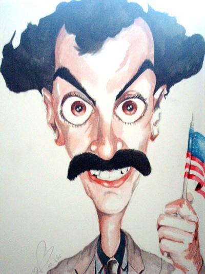 Borat caricature by Steveroberts
