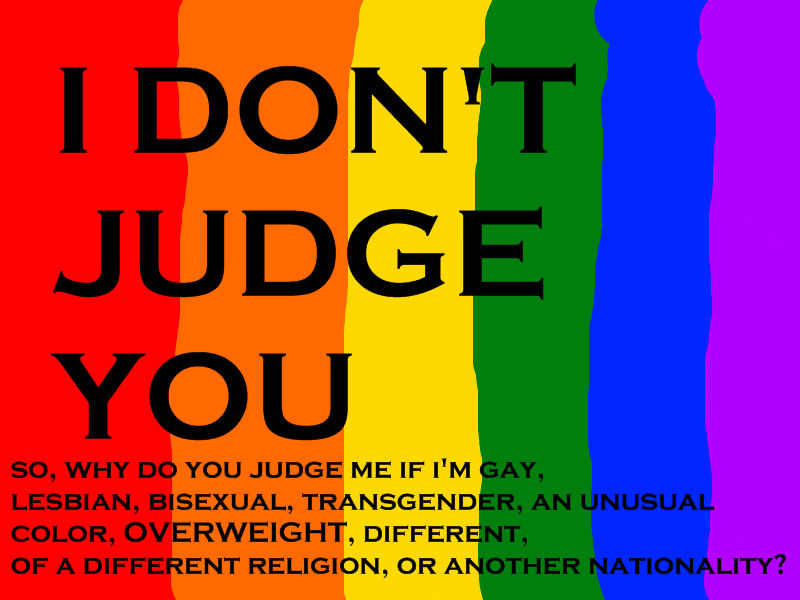 I Don't Judge You
