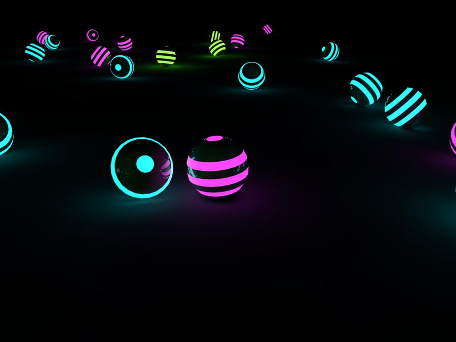 glowing balls by Faisalharoon