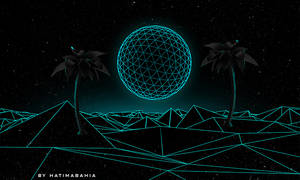 Neon elements and palms