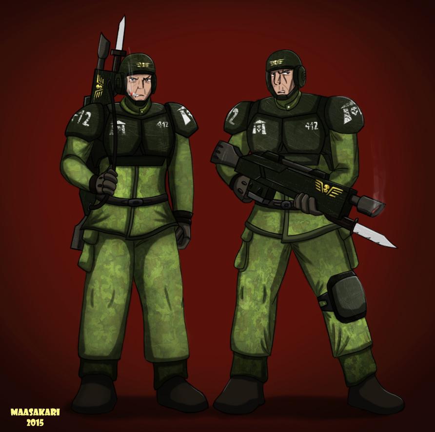 Imperial guards by MaasAkari