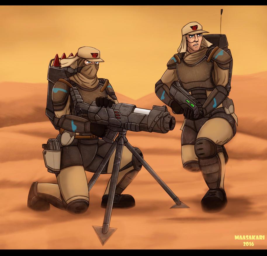 Atreides Troopers by MaasAkari