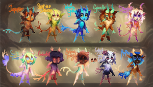 {Flatsale} Painted Satyrs! [closed]