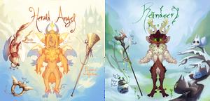 {Advent Auction} Herald Angel + Reindeer [open]