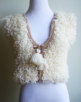 Maya Crocheted Wool Vest