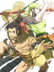Maeda Toshiie and Matsu-BASARA by kiriha2929