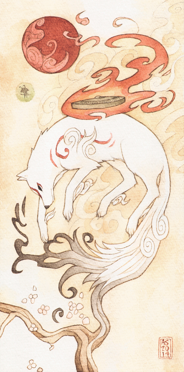 Okami by driftwoodwolf