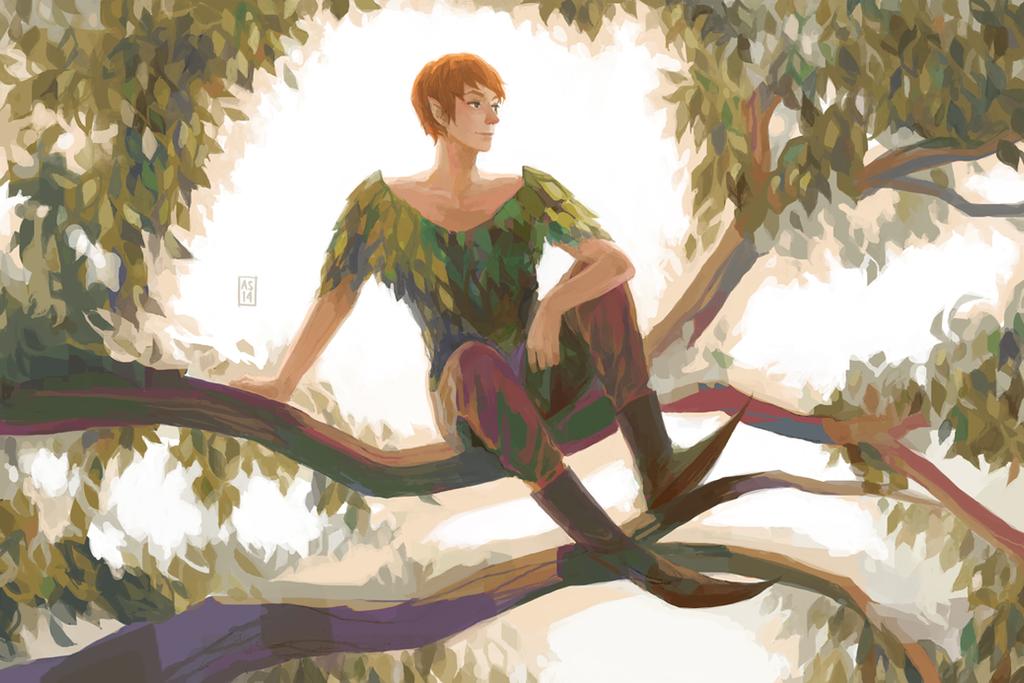 Peter Pan by driftwoodwolf