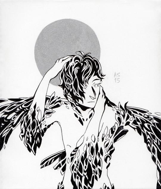 Bird Boy by driftwoodwolf